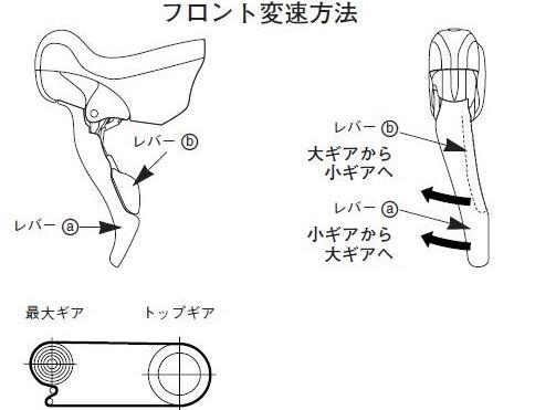 ロードバイクのフロントディレイラー(変速装置)の調整4