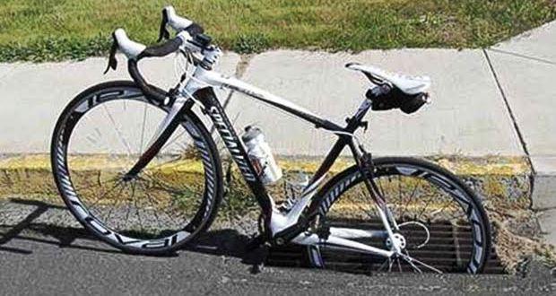 ロードバイクで走るときはグレーチングに注意【転倒】